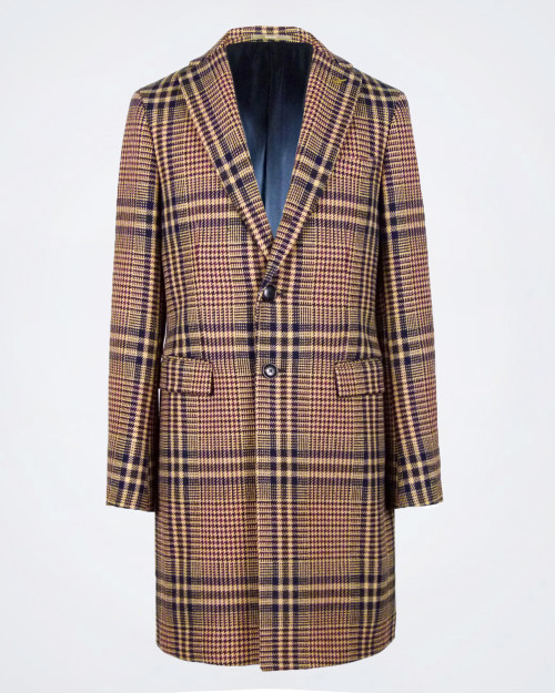 PAOLONI Checked Wool Coat