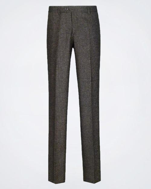 PAOLONI Straight Leg Wool Blend Trouser