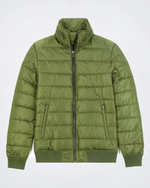 CAMICISSIMA Olive Green Bomber Style Parka
