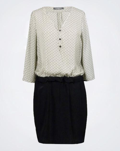 SANDRO FERRONE Long Sleeve Patterned Dress