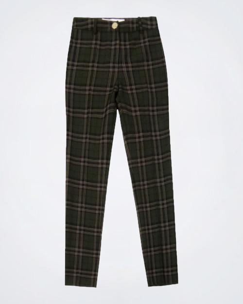 NENETTE Slim Fit Tartan Pants