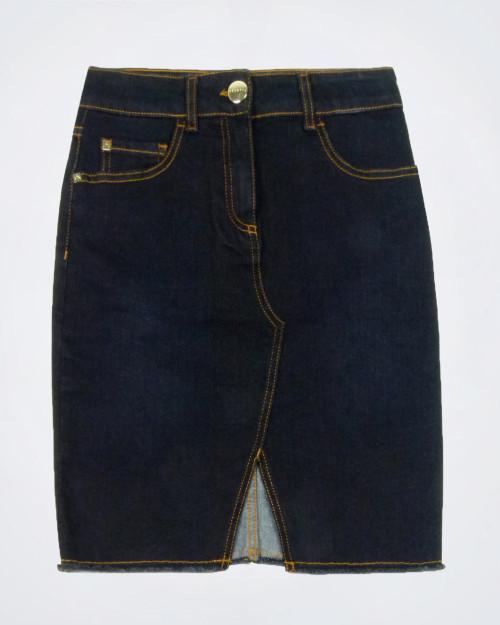 NENETTE Stretch Dark Denim Skirt