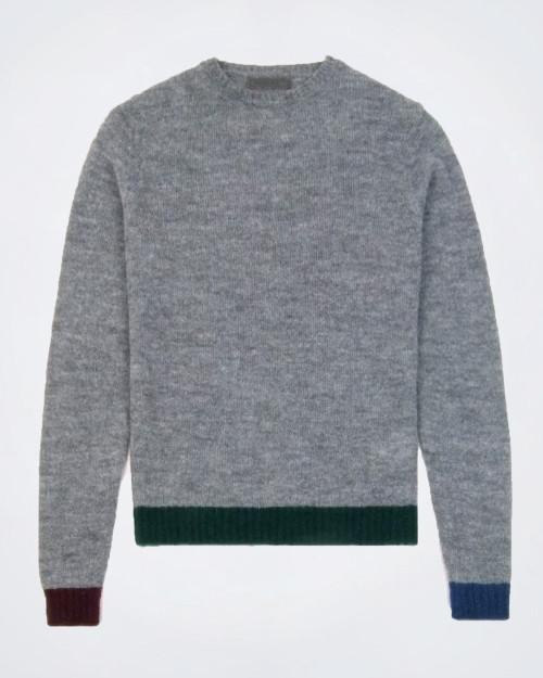 MANUEL RITZ Crew Neck Wool Blend Knit