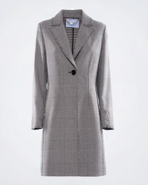 NENETTE Single Breasted Prince Of Wales Pattern Coat