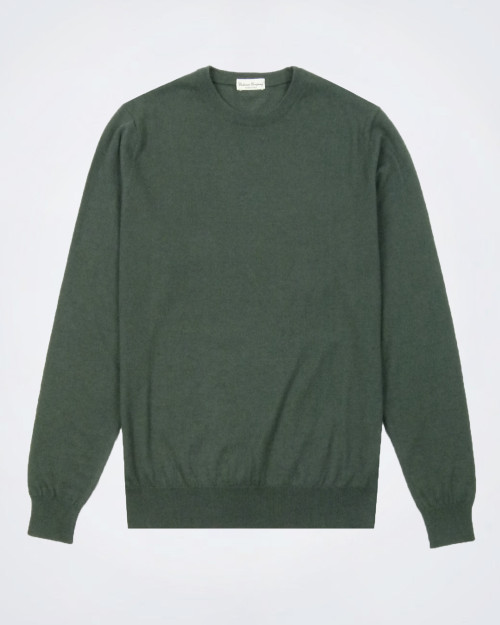 CASHMERE COMPANY Silk & Cashmere Military Green Knit
