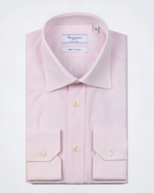 CAMICISSIMA Slim Fit Pink Cotton Shirt