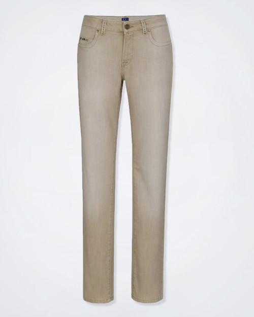 TRUSSARDI Ladies Stretch Denim Beige Jeans