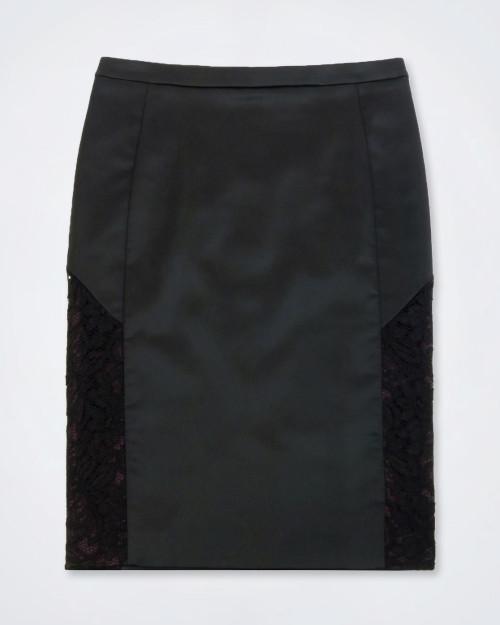 JUST CAVALLI Black Pencil Skirt