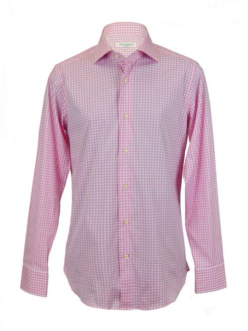 CALIBAN Checked Pink Shirt