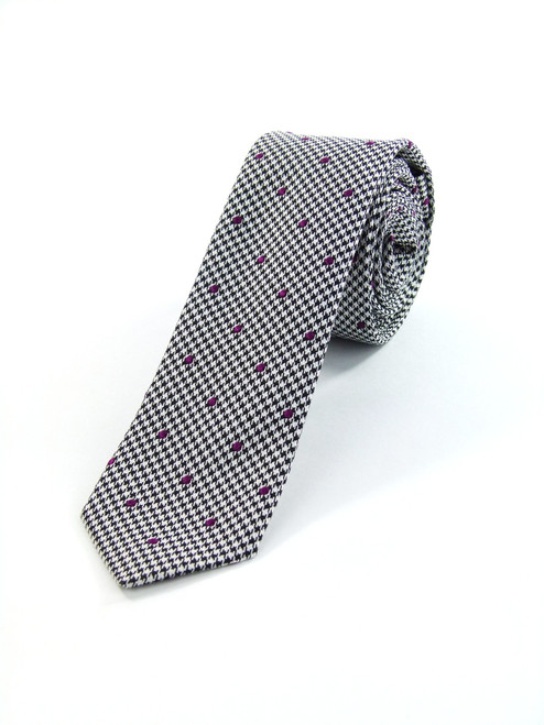 Costume National Woven Silk Gray Tie