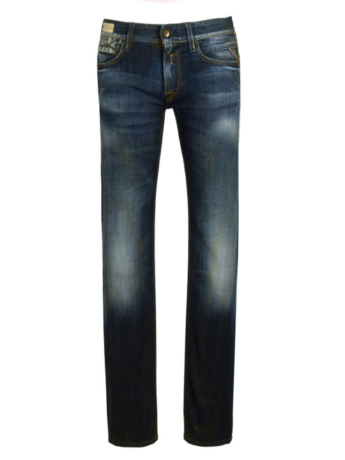 Replay Distressed Slim Fit Jeans