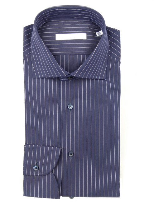 CALIBAN Striped Cotton Dress Shirt