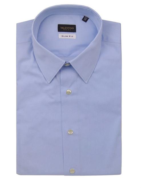 Valentino Solid Blue Classic Shirt