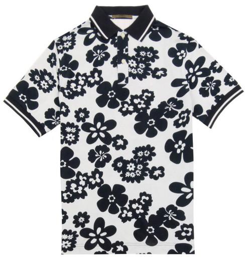 UNGARO Blue & White Polo Shirt