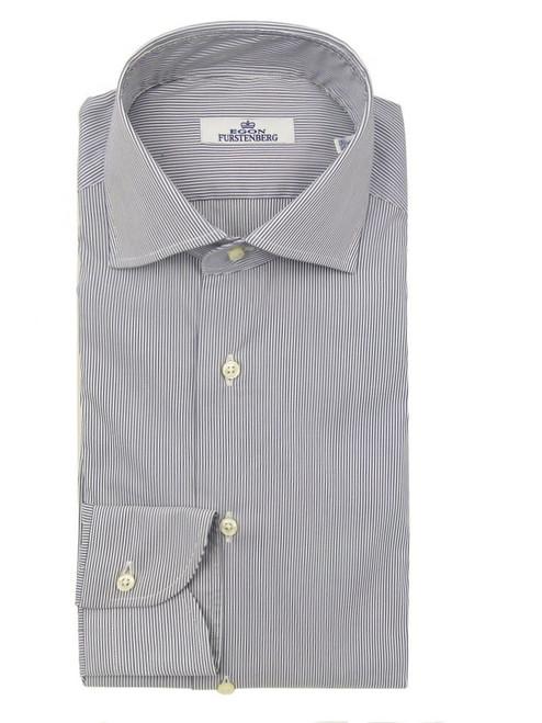 FURSTENBERG Grey Striped Shirt