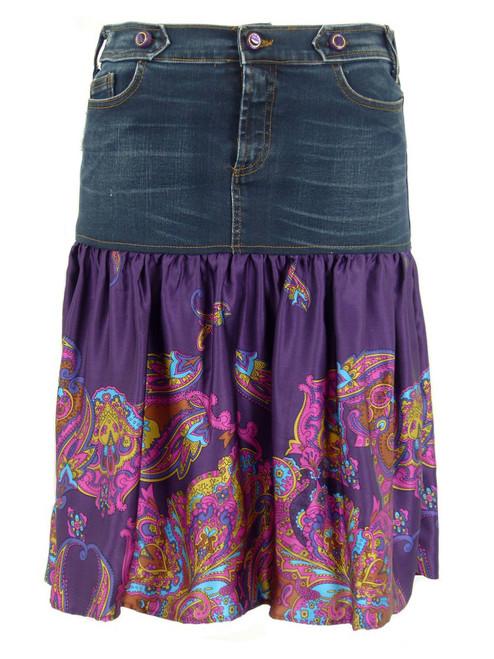 D&G Silk & Denim Skirt