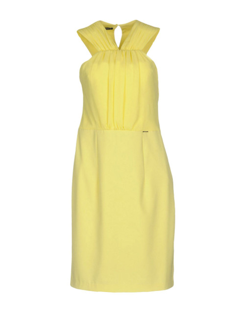 ANNARITA N Lemon V-Neck Dress