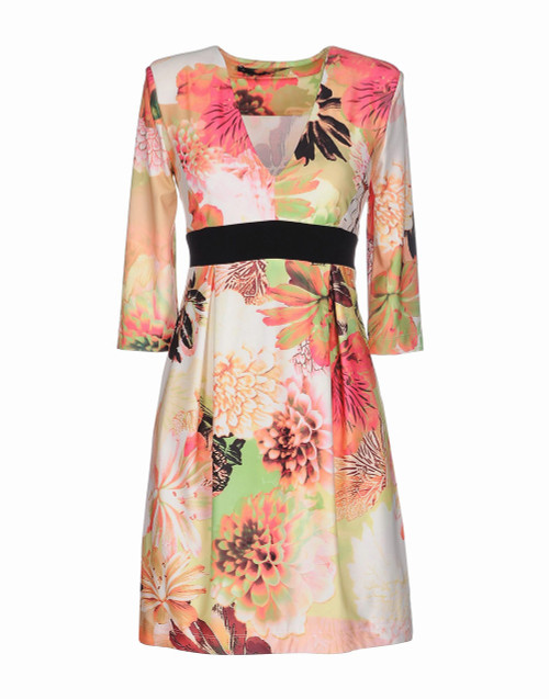 ANNARITA N Floral V-Neck Dress