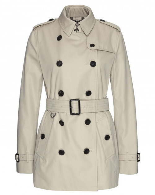 BURBERRY Kensington Ladies Short Stone Trench