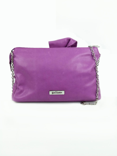GALLIANO Fuchia Leather Shoulder Bag