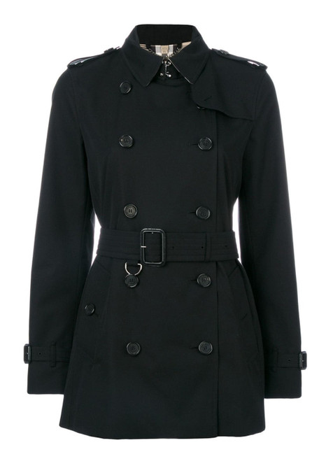BURBERRY Kensington Ladies Short Black Trench