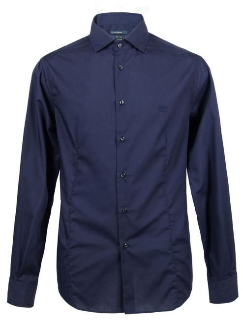 CLASS By Roberto Cavalli Men's Navy Blue Shirt