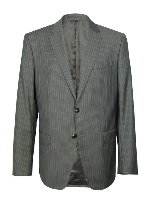 VERSACE COLLECTION Herringbone Pin Striped Suit