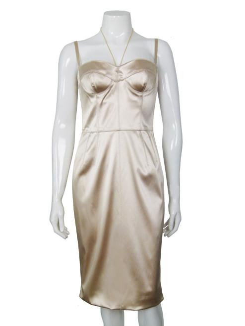 DOLCE & GABBANA Gold Bustier Dress