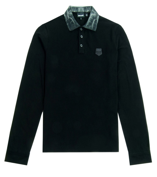 JUST CAVALLI Long Sleeve Polo Top