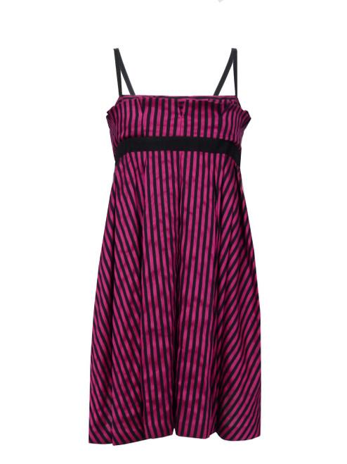 GF FERRE' Striped Linen Dress