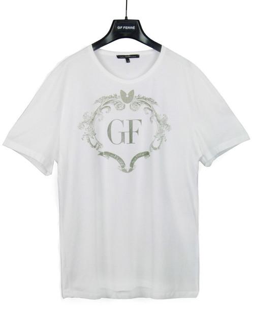 GIANFRANCO FERRE' Men's White Logo  T-Shirt