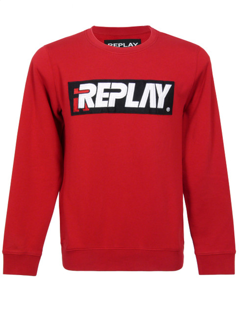 REPLAY Men's Red Windcheater