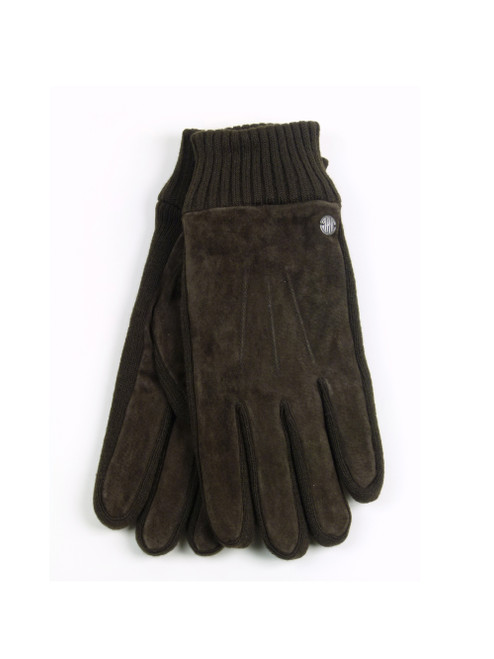 REPLAY Unisex Brown Suede Gloves