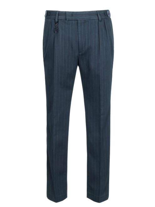 MANUEL RITZ Men's Pleated Trouser