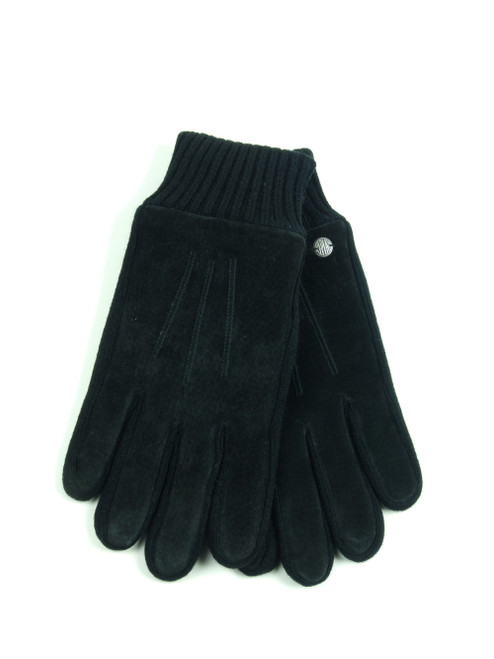 REPLAY Unisex Black Suede Gloves