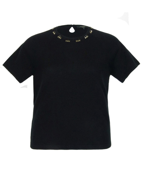 MAX MARA WEEKEND Black Wool and Cashmere Knit