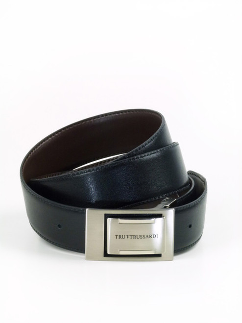 TRUSSARDI Dual Colour Leather Belt