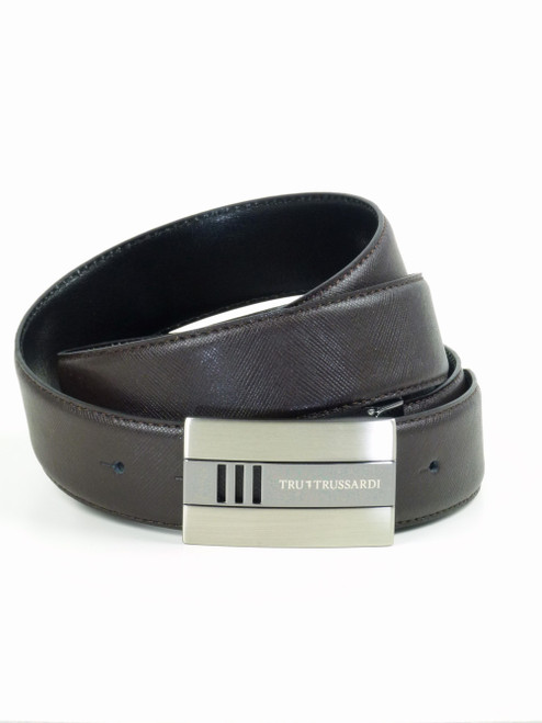 TRUSSARDI Black & Brown Reversible Belt