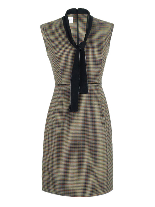 ANNARITA N  Tweed Pattern Dress
