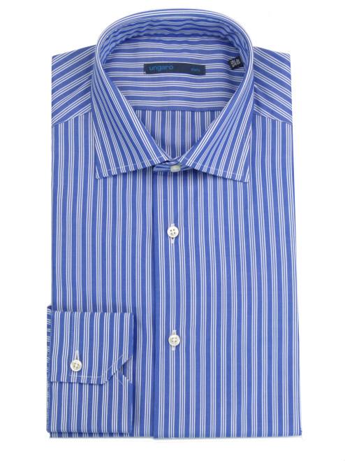 UNGARO Classic Blue Striped Shirt