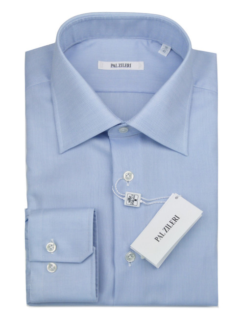 PAL ZILERI Classic Plain Blue Shirt