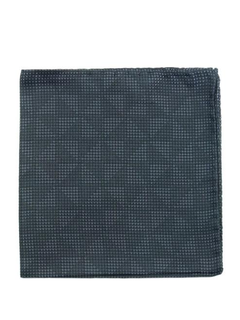 PAL ZILERI Grey Textured Pocket Square