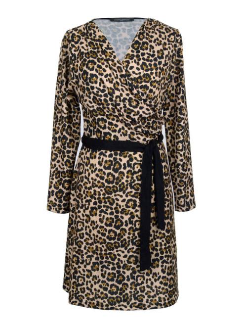 SANDRO FERRONE Leopard Print Dress
