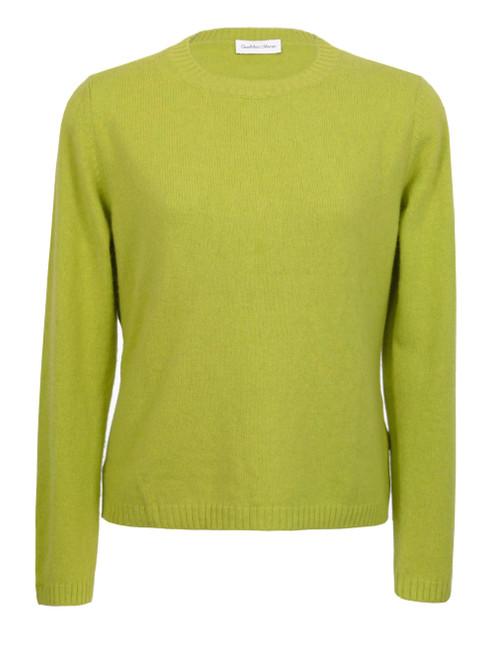 GIANMARCO VENTURI Lime Cashmere Blend Knit