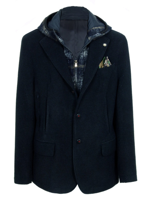 MANUEL RITZ Navy Blue Men's Jacket