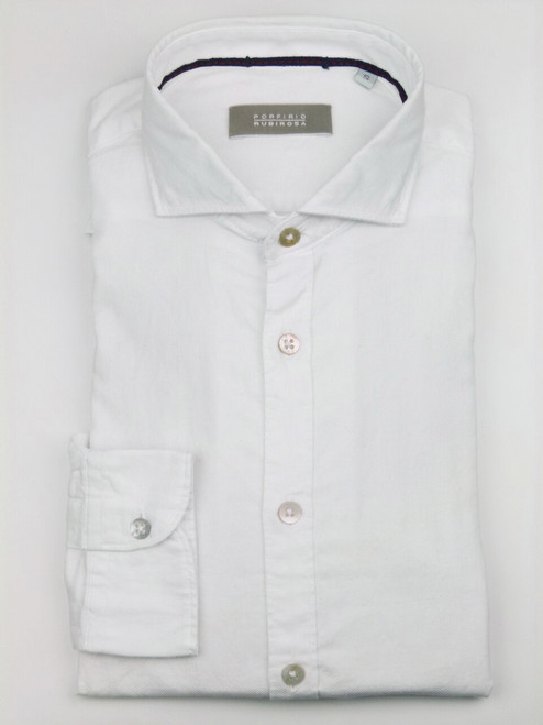 PORFIRIO RUBIROSA Casual White Shirt