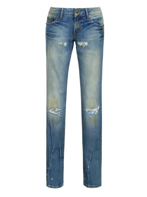 JUST CAVALLI Ladies Distressed Denim Jeans