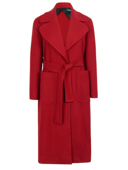 SANDRO FERRONE Red Single Breasted Coat