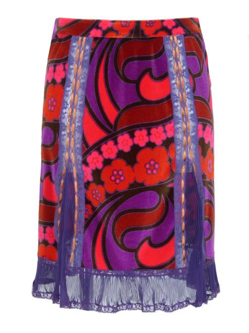 D&G Velvet Knee Length Skirt