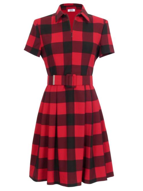 KATE By LALTRAMODA Check Pattern Dress